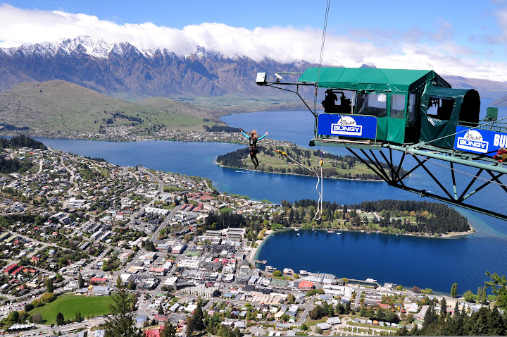 View of jump Ledge Bungy Queenstown