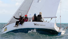 J/World Sailing School team- racing off Key West