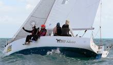 J/World Sailing School team- racing off Key West