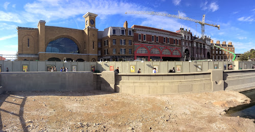 First panoramic pic of Diagon Alley's London Waterfront facade unveiled