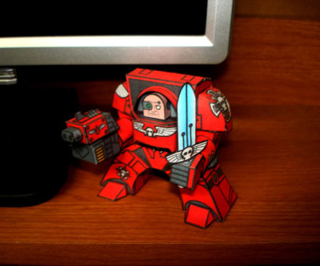 Mini Warhammer 40K Papercraft