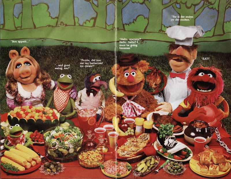Muppet Picnic Cookbook 1981 Hallmark Cards