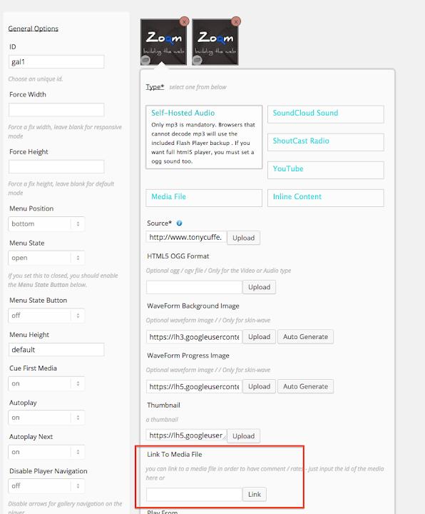 Documentation ZoomSounds Wordpress