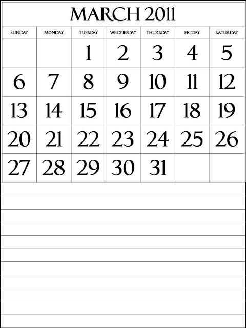downloadable calendar 2011. Calendar 2011 March :