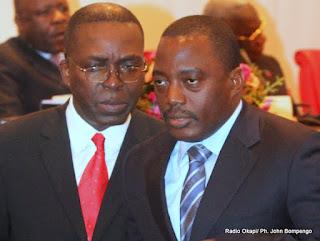De gauche à droite, Le Président Joseph Kabila Kabange et Le Premier ministre Matata Ponyo Mapon. Radio Okapi/ Ph. John Bompengo