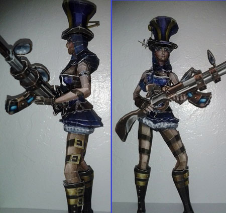 League of Legends Caitlyn Papercraft