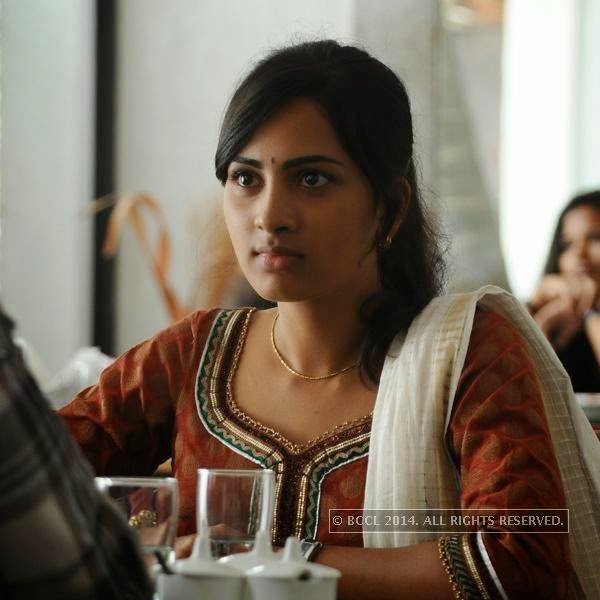 Srushti Dange in a still from the movie Megha.<br />