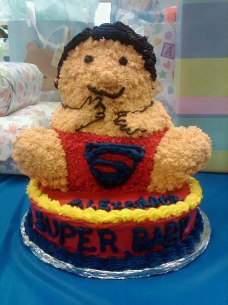 superman baby cake for shower this cake was fun to do all the icing is