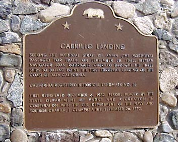 Landmark adventures cabrillo landing site for Point loma landing fish count
