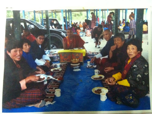 My mother inlaw with her spiritual family