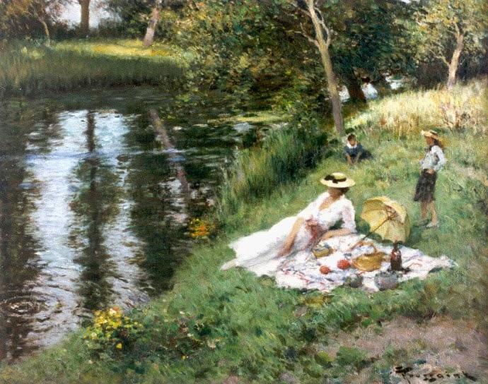 Fernand Toussaint - Picknick aan de rivieroever