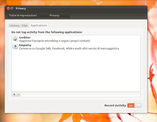 Ubuntu 12.04 privacy - applications