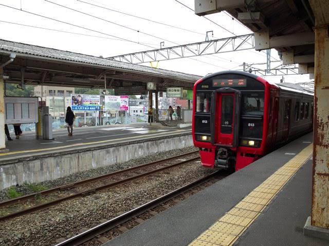 折尾駅の鹿児島本線のホーム