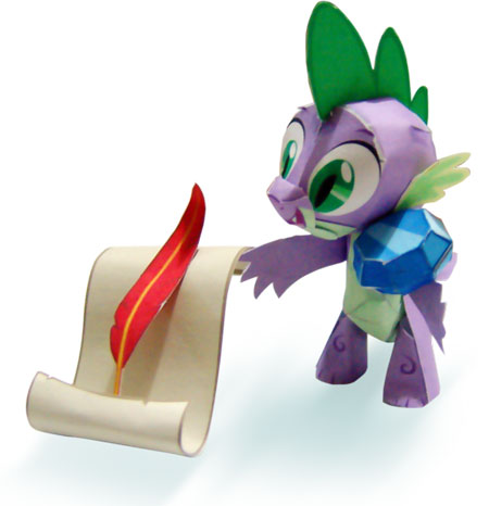 My Little Pony Spike the Baby Dragon Papercraft