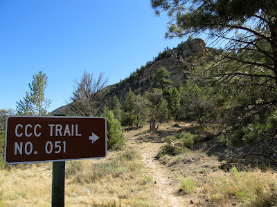 The beginning of the CCC Trail