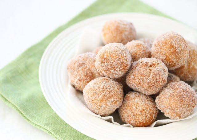 photo of sugared donuts