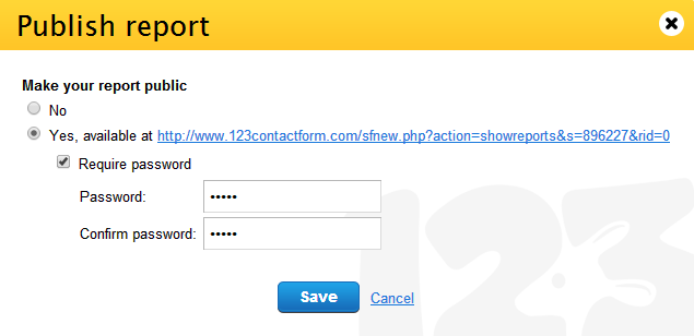 how to password protect my form report