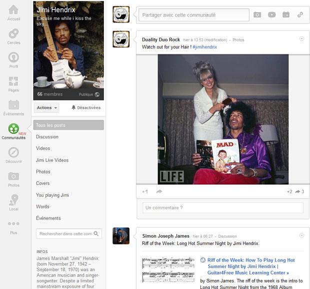 Une Communautée Google+ dédiée à Jimi Jimi-on-gg