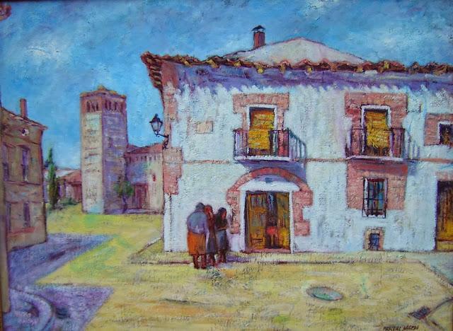 En la calle de Mojados,obra del pintor Pascual Aranda