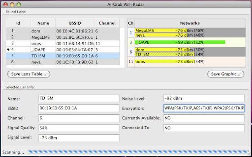 AirGrab WiFi Radar (Mac) v1.7.9