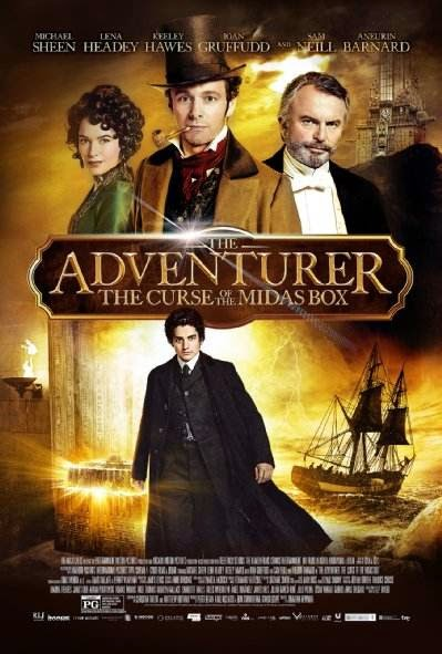 Poster Of English Movie The Adventurer: The Curse of the Midas Box (2013) Free Download Full New Hollywood Movie Watch Online At Alldownloads4u.Com