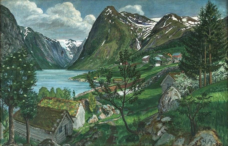 Nikolai Astrup - Sunde in Jølster, ca. 1920