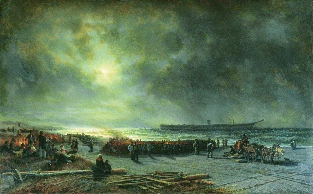 Alexey Bogolybov - Wreck of the frigate Alexander Nevsky