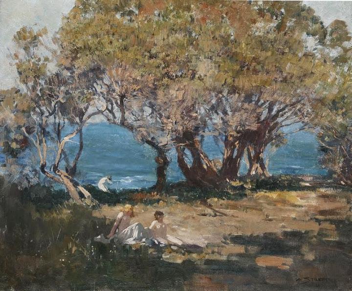 Arthur Streeton - Seaside Pastoral