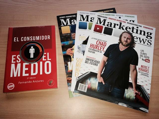 """Promoción: Libro """"El Consumidor es el Medio"""" + Suscripción a Marketing News"""