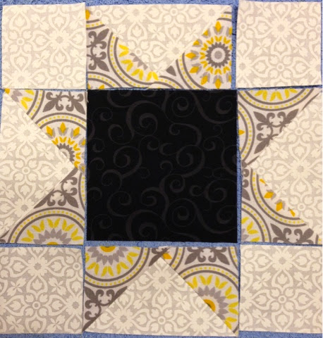 star quilt for black and yellow