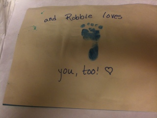 DIY Father's Day crafts - baby's stamp