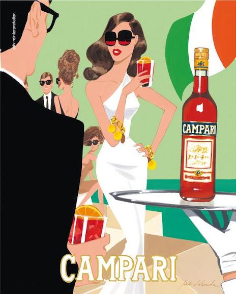 Publicidad de Campari ilustrada por Jordi Labanda