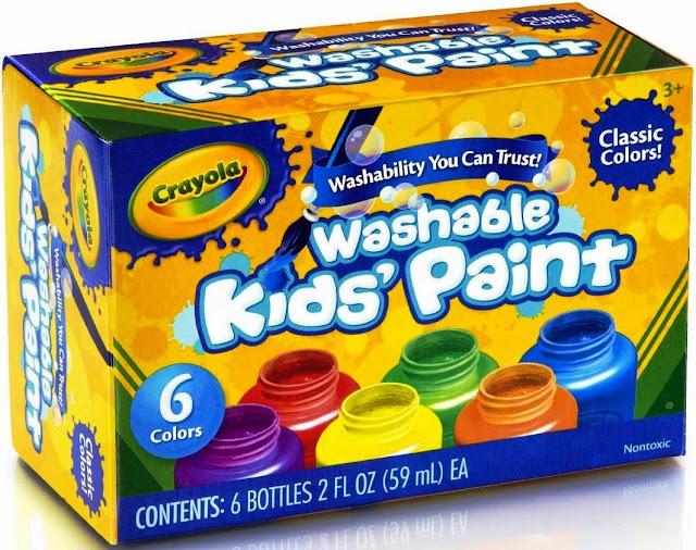 Sản phẩm 6 lọ màu nước Crayola Washable Kids' Paint tẩy rửa được làm từ nguyên liệu có sẵn trong thiên nhiên nhiên nên tuyệt đối an toàn