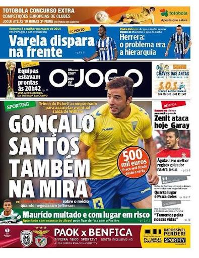 Gonçalo Santos, jogador do Estoril e natural de Lamego pode estar a caminho do Sporting