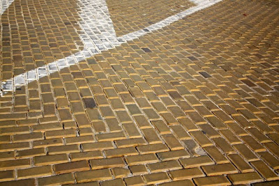 Yellow brick road in Sofia Bulgaria