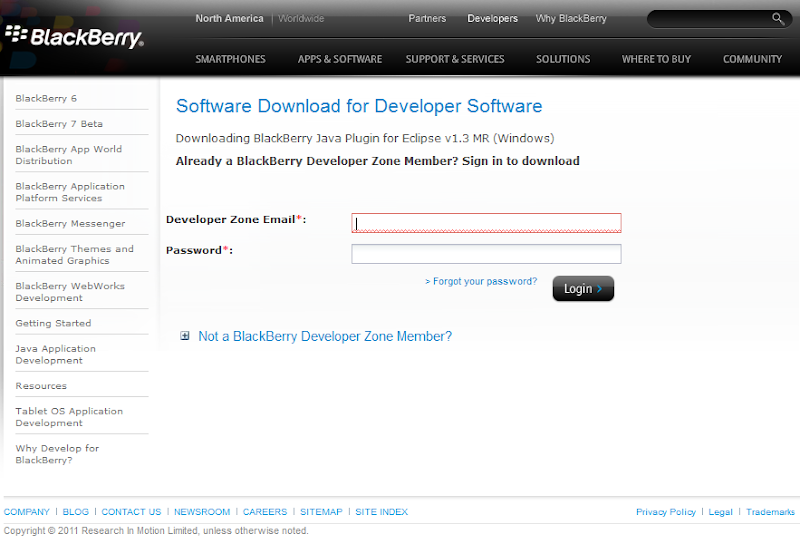 Blackberry SDK setup