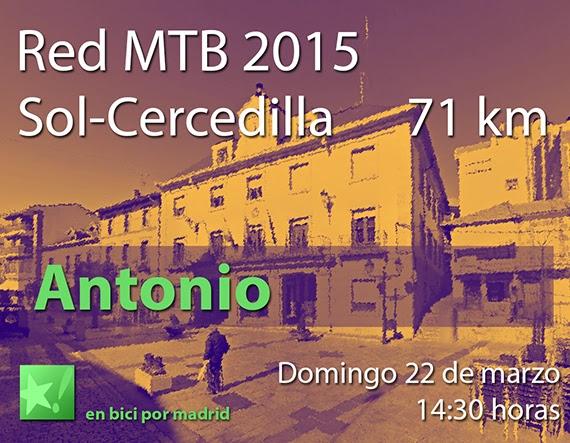 Dorsales para la Red MTB 2015 a Cercedilla. Grupo Puerta del Sol