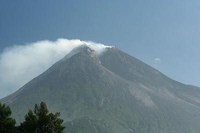Le cratère du Merapi