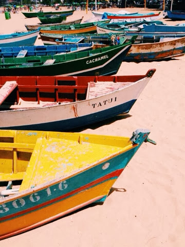 fishermen boats, praia da costa, vila velha, espirito santo, brazil
