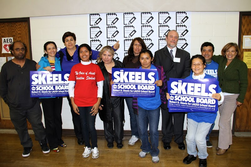 Robert D. Skeels Speaking at the third D2NC LAUSD Candidate Forum in Boyle Heights