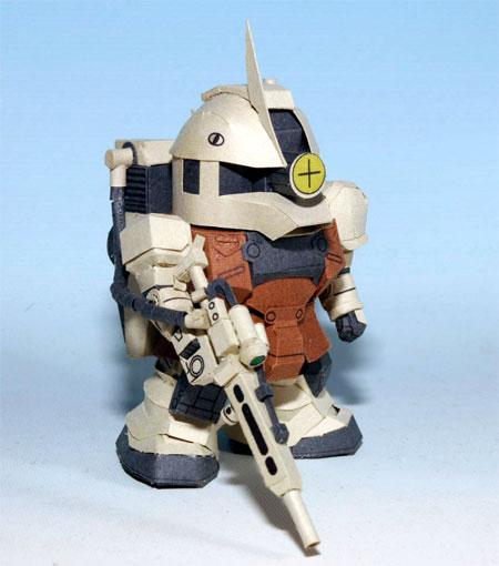 MS05L Zaku Sniper Type Papercraft Gundam
