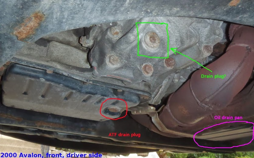 Draining Transmission Oil Help With Drain Plugs Toyota