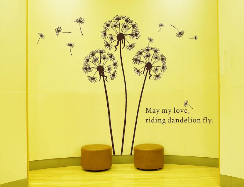Enchanting Dandelion Wall Art Stickers Sketch - Art & Wall Decor ...