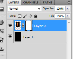 Layer mask adicionada ao personagem