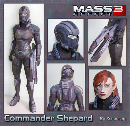 Mass Effect 3 FemShep Papercraft