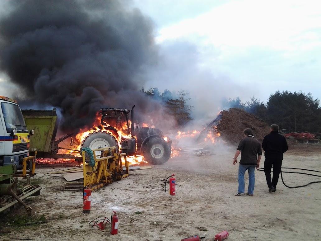 fire in a farm