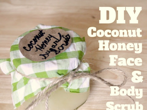 DIY Coconut Honey Face & Body Scrub