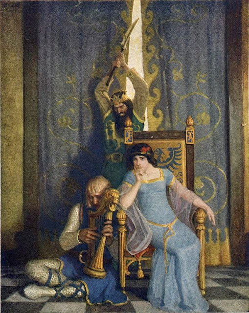N. C. Wyeth - King Mark slew the noble knight Sir Tristram
