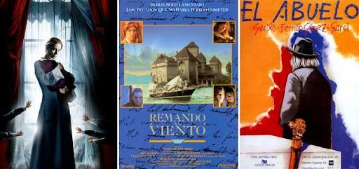 Tres de las películas dirigidas por José Luis Garci: El Horfanato, Remando al viento y El abuelo