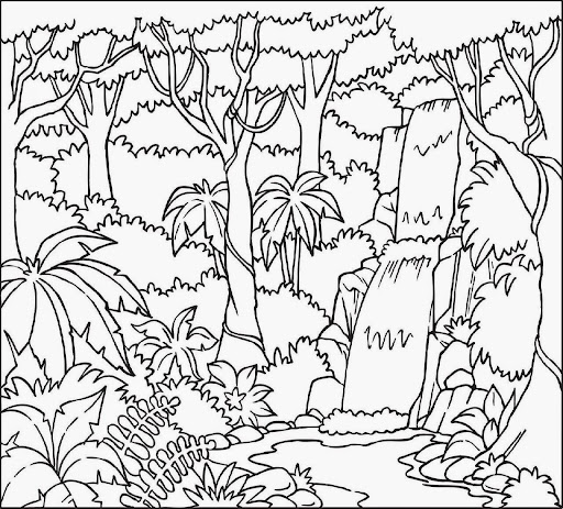 tropical island coloring sheet colorine 5241 - Tropical Coloring Pages Printable